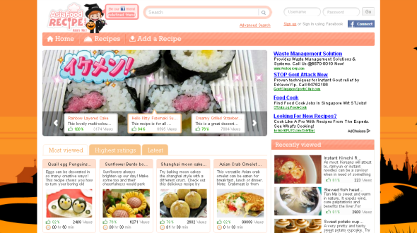 Screenshot of Asia Food Recipe