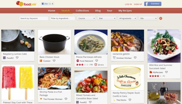 Screenshot of FoodPair